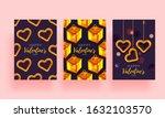 romantic set background.... | Shutterstock .eps vector #1632103570