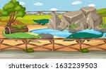 scene with wild animals in the... | Shutterstock .eps vector #1632239503