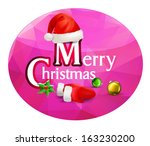christmas inscription on a... | Shutterstock .eps vector #163230200