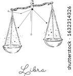 libra zodiac sign.vector... | Shutterstock .eps vector #1632314326