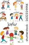 set of children doing... | Shutterstock .eps vector #1632314446