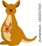 Flat Colored Brown Kangaroo...