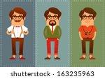 funny cartoon guys dressed in...   Shutterstock .eps vector #163235963