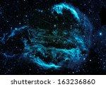 star field in space  a nebulae... | Shutterstock . vector #163236860