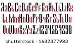 english geometric font cyrillic ... | Shutterstock .eps vector #1632377983