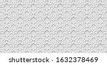 white arabic pattern  islamic... | Shutterstock .eps vector #1632378469