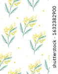 mimosa flowers  seamless... | Shutterstock .eps vector #1632382900