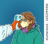 a doctor measures the... | Shutterstock .eps vector #1632394306