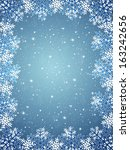 christmas background with frame ...   Shutterstock . vector #163242656