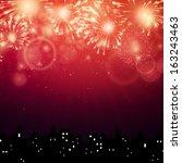 vector illustration of fireworks | Shutterstock .eps vector #163243463