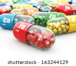 dietary supplements. variety... | Shutterstock . vector #163244129