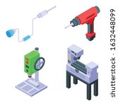 drilling machine icons set.... | Shutterstock .eps vector #1632448099
