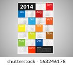 2014 calendar design   eps10...