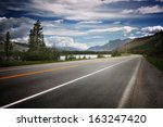 Asphalt Road In Canada With...