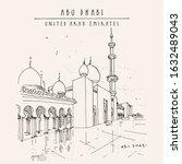 abu dhabi  united arab emirates.... | Shutterstock . vector #1632489043
