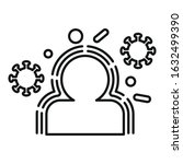 people immunization icon.... | Shutterstock .eps vector #1632499390