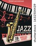 graphic illustration for jazz... | Shutterstock .eps vector #1632504439