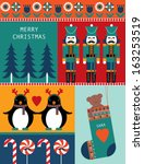 christmas montage greeting... | Shutterstock .eps vector #163253519