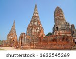 sculpture ancient old pagoda at ... | Shutterstock . vector #1632545269