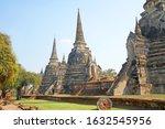 sculpture of three 3 ancient... | Shutterstock . vector #1632545956