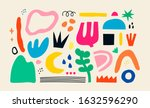 big set of hand drawn various... | Shutterstock .eps vector #1632596290