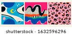 space  stars  planets  leopard... | Shutterstock .eps vector #1632596296