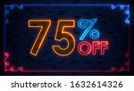 bargain sale 75 percent off...   Shutterstock . vector #1632614326