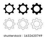 gear cogs icon set   setting... | Shutterstock .eps vector #1632620749