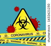coronavirus warning sign in a... | Shutterstock .eps vector #1632621250