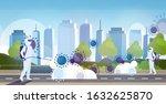 scientists in hazmat suits...   Shutterstock .eps vector #1632625870