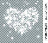heart  lights  stars and blurs... | Shutterstock .eps vector #1632648826
