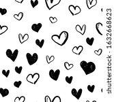 heart doodles seamless pattern. ...   Shutterstock .eps vector #1632668623