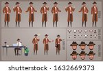 private detective character set.... | Shutterstock .eps vector #1632669373