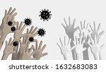 contagious hands with... | Shutterstock . vector #1632683083
