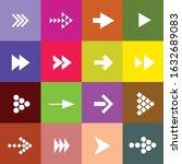 arrow set direction color... | Shutterstock .eps vector #1632689083