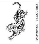traditional tiger tattoo design ...   Shutterstock .eps vector #1632704866