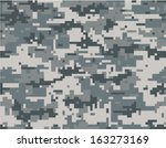 digital camouflage seamless... | Shutterstock .eps vector #163273169