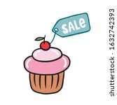 cupcake discount label. vector...   Shutterstock .eps vector #1632742393