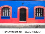 colonial architecture in san... | Shutterstock . vector #163275320