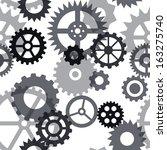 clock gears seamless pattern   Shutterstock .eps vector #163275740