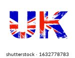 united kingdom flag in letters  ... | Shutterstock .eps vector #1632778783