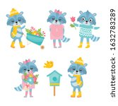 cute animals collection.... | Shutterstock .eps vector #1632783289