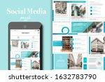 social media puzzle template...   Shutterstock .eps vector #1632783790