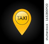 taxi sign. car transport icon.... | Shutterstock .eps vector #1632800920