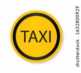taxi sign. car transport icon.... | Shutterstock .eps vector #1632800929