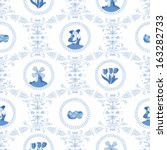 Delft Blue Seamless Pattern....