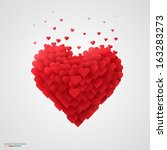 valentines heart. decorative... | Shutterstock .eps vector #163283273