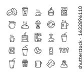 coffee shop outline icon set....   Shutterstock .eps vector #1632896110