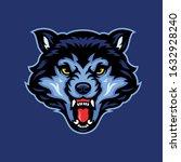 wolf head mascot vector... | Shutterstock .eps vector #1632928240