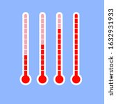 thermometer outdoor... | Shutterstock .eps vector #1632931933